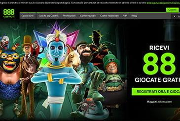 La Homepage di 888casino